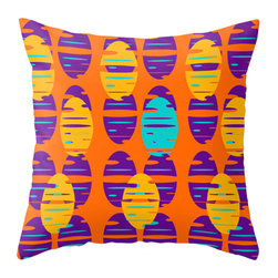 Crash Pad Designs - Modern Mid Century Inspired Accent Pillow - A fun pillow can change an entire room. Style your room with this mod & playful pillow. This pillow is Wilder. On a sofa, a chair, or bed it's sure to make you smile. Double sided print pillow, made from 100% spun polyester poplin fabric w/ a hidden zipper closure & a polyester fill insert. Original Crash Pad Designs fabric.