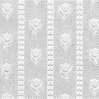 Renovators Supply - Wallpapers White Wallpaper Textured Vinyl Embossed Tulip | 98078 - Wallpaper. This vinyl wallpaper features beautiful Victorian style embossed small TULIP motif print. Easy to maintain it is scrubbable- strippable and peelable. This wallpaper is NOT pre-pasted and requires a good quality heavy duty adhesive paste- sold separately. This wallpaper has paper backing. Installation instructions are included. Packaged as a double roll you benefit from longer continuous lengths of usable paper at a great value. Measures 11 yards x 20 1/2 in. W for 56 square feet of usable paper. Vertical repeat is 1 1/4 in. up and down. Horizontal repeat is 1 1/4 in. across.