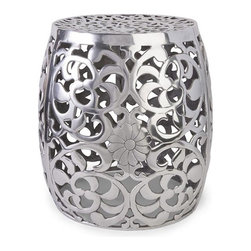 IMAX CORPORATION - Paige Aluminum Garden Stool - Paige Aluminum Garden Stool. Find home furnishings, decor, and accessories from Posh Urban Furnishings. Beautiful, stylish furniture and decor that will brighten your home instantly. Shop modern, traditional, vintage, and world designs.