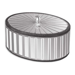 Uttermost - Alanna Mirrored Box - Constructed of numerous beveled mirrors with polished edges for a smooth finish