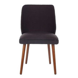 Safavieh - Ethel Dining Chair (Set Of 2) - Dark Taupe - A Danish minimalism meets the 1950s diner chair in our Ethel dining chair with natural oak legs. Simple lines, dark taupe fabric and a gentle curve on the back make Ethel at home in contemporary and transitional settings.