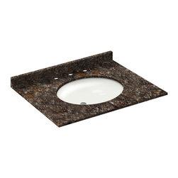 LessCare - 31x22 Tan Brown Granite Vanity Countertops - 8 Faucet Spread - *Condition: New