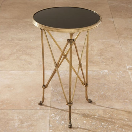 nightstands and bedside tables Directoire Brass and Black Granite End Table