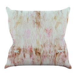 """Kess InHouse - Suzanne Carter """"Florian"""" Pink Throw Pillow (16"""" x 16"""") - Rest among the art you love. Transform your hang out room into a hip gallery, that's also comfortable. With this pillow you can create an environment that reflects your unique style. It's amazing what a throw pillow can do to complete a room. (Kess InHouse is not responsible for pillow fighting that may occur as the result of creative stimulation)."""