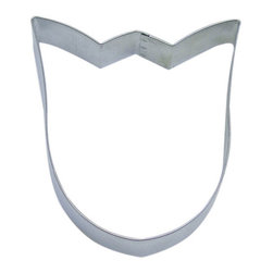 RM - Tulip Bulb B1163X Cookie Cutter - Tulip bulb cookie cutter, made of sturdy tin, Size 3 in., Depth 7/8 in., Color silver