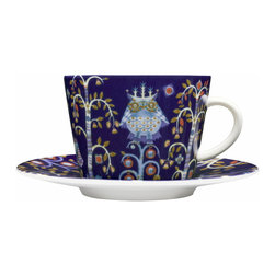 Iittala - Taika Coffee & Tea Cup Only, Blue - Once upon a time there was a pattern so charming it brought back all the cherished fairy tales of your childhood. The happily ever after part? It's right here, on this porcelain teacup.