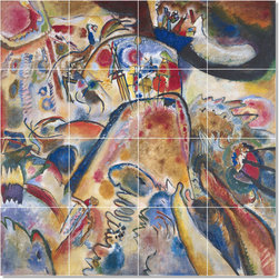 Picture-Tiles, LLC - Abstract Small Pleasures Tile Mural By Wassily Kandinsky - * MURAL SIZE: 32x32 inch tile mural using (16) 8x8 ceramic tiles-satin finish.