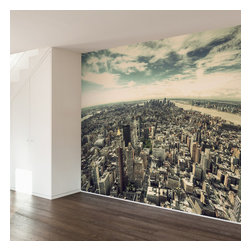 WallsNeedLove - Fifth Ave NYC Wall Mural Decal - Home may be where the heart is, but NYC is where the soul lies. Bring heart and soul together with this beautiful skyline art print of your favorite city. The view from this angle takes you from any room in your home straight down 5th Ave. Maybe you can see Lady Liberty herself if you squint real hard.
