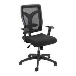 Safco - Safco Voice Series Task Chair Mesh Back in Black - Safco - Office Chairs - 5086BL - Find your voice by expressing your work style and getting relaxing comfort! Voice is a matter of opinion and it's time your workspace heard yours. This chair has your back with a mesh back and an upholstered seat. Take your seating experience to the next level with features designed for comfort. Features include: syncro mechanism with slide tilt tension tilt lock and height-adjustable arms. This mesh back Voice also has adjustable lumbar support for a more ergonomic way to sit.