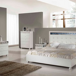 Evo Modern Ambient White Bedroom Set Made In Italy - Modern White Bedroom Set