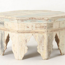 Kasbah Coffee Table - This chunky octagonal table inspired by Moroccan archways is calling my name! I can just imagine spreading out a stack of fresh magazines and a glass of mint tea and kicking my feet up here after a long day.