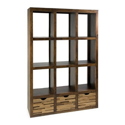 IMAX CORPORATION - Caledonia Reclaimed Pine Wood 3 Drawer Room Divider Shelf - Caledonia Reclaimed Pine Wood 3 Drawer Room Divider Shelf. Find home furnishings, decor, and accessories from Posh Urban Furnishings. Beautiful, stylish furniture and decor that will brighten your home instantly. Shop modern, traditional, vintage, and world designs.