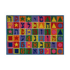 Fun Rugs - Hebrew Numbers and Letters Kids Rug - Your child's room is a natural extension of them. Add these innovative designs from LA Rug to spruce up any child's decor.