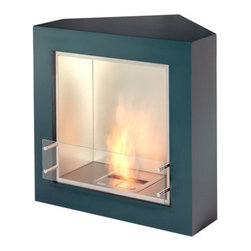 Trio Modern Ventless Designer Fireplace - If you're unsure of how to fill the empty corners in your home, consider a fireplace. This fireplace is specially designed to fit snugly into a 90 degree corner so there won't be any wasted space.