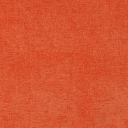 Orange Solid Woven Velvet Upholstery Fabric By The Yard - This velvet fabric is woven for appearance and increased durability. It is excellent for all indoor upholstery, including residential and commercial.