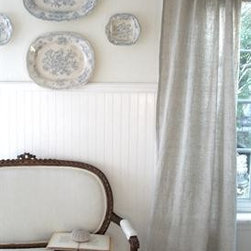 Natural Sofia Curtain Panel - I adore these ruffled linen curtains. Actually, I always love the rustic and sumptuous feel of anything in linen. It really adds wonderful texture to the home.