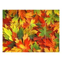 Picture-Tiles, LLC - Autumn Picture Kitchen Bathroom Ceramic Tile Mural  12.75 x 17 - * Autumn Picture Kitchen Bathroom Ceramic Tile Mural 1052