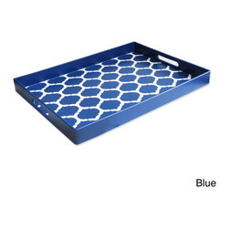 Accents by Jay - Garden Lattice Tray - Serve up breakfast in bed or treat guests to some delectable appetizers with this durable serving tray. The garden lattice pattern gives the polypropylene tray a touch of excitement, and it has two convenient handles for easy transport.