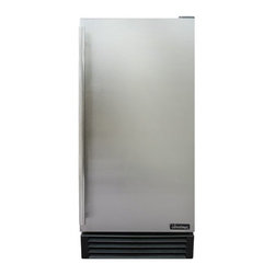 Vinotemp - 3.18 Cu. Ft. Outdoor Refrigerator - Store your beverages in this sleek 3.1 Cu. Ft. Outdoor Refrigerator with a stainless cabinet body, stainless steel door and a full-length door handle. The unit features a front exhaust for built-In or freestanding installation. Three wire shelves and a wire basket maximize your storage space. Set the temperature inside the refrigerator with the easy-To-Use temperature control knob.