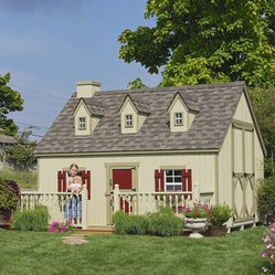 Little Cottage 8 x 10 Cape Cod Wood Playhouse - There's nothing better