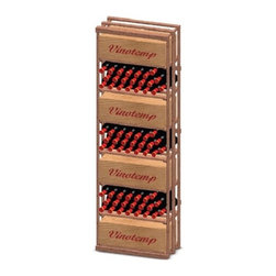 """Vinotemp Rack-CB-PR 8 Column / Decanter Redwood 102 Bottle Wine Rack - This case bin rack is specially designed to store cases on 7 separate shelves. Wine bottles may also be stored in bulk in a case bin wine rack. Vinotemp never uses glue to hold our racks together because it can weaken over time. This wine rack kit is hand made in our Southern California factory and crafted from Premium Redwood, it is ideal for starting or expanding any wine collection. Features: - Premium Redwood - 7 Case bin compartments - This rack holds all sizes of wine bottles - Bottle capacity: approx. 153 bottles - Dimensions: 24""""W x 12""""D x 73 3/8""""H"""