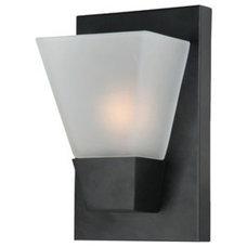 Shop Portfolio 5-1/2-in W 1-Light Matte Black Pocket Wall Sconce at Lowes.com