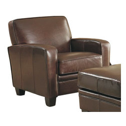 Lazzaro Leather - widener club chair - It's the end of the day and this soft leather chair is waiting for you. No need to belong to an expensive club to find the perfect reading chair. Top-grain leather, hardwood frame, built to last.