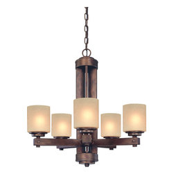 Dolan Designs - Dolan Designs 2700-90 Sherwood Sienna 5 Light Chandelier - Dolan Designs 2700-90 Sherwood Sienna 5 Light Chandelier