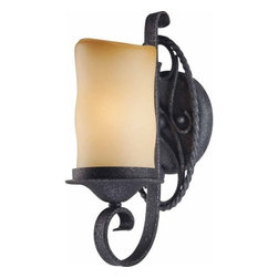 Volume Lighting - Volume Lighting V4581 Sevilla 1 Light Bathroom Sconce - One Light Bathroom Sconce from the Sevilla CollectionAdorn your bathroom with this 1 light bathroom sconce featuring timeless sandstone glass.Features:
