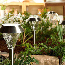 traditional outdoor lighting Westinghouse 8 Piece Torrence Glass High-Output LED Solar Lights
