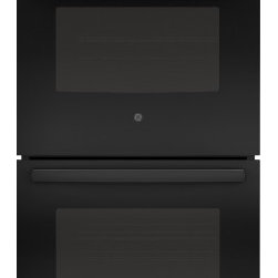 "GE - JK5500DFBB 27"" Built-In Double Convection Wall Oven With True European Convectio - This new double wall convection oven from GE comes with true european convection on the upper oven The self-clean with steam clean option on both oven gives you the option to clean your dishwasher the way you want"