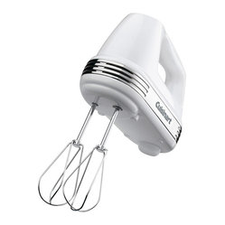 Cuisinart - Cuisinart White Power Advantage 5-Speed 220-Watt Hand Mixer - Mix it up with this 220-watt mixer, with speed control and a must-have beater eject lever. The swivel cord is designed to allow comfortable mixing, whether you're right or left-handed. Innovative extra-long, self-cleaning beaters keep more of the goodies in your bowl. Three-year limited warranty.