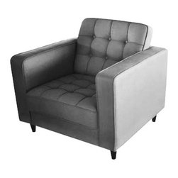 VIP Lounge Chair - Dark Gray - Reminiscent of the sort of chair you might find in the VIP lounge at a swanky nightclub, this dark gray chair will infuse your home with its charisma. This chair is ideal paired with the VIP Sofa.