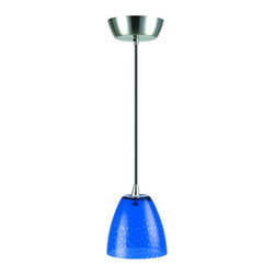"""Lite Source - Lite Source LS-14081  Single Light Mini Pendant from the Carlota Collection - *Pendant LampThe epitome of chic, these mini colored glass ceiling pendants come in an array of patterns and shapes. A fabulous choice to brighten up a monotonous space. Great for a bar, kitchen or sitting area, these can be mixed and matched for whatever your delight.50W Halogen JC Type Bulb(Bulb Included)130""""H (Max.) x 5""""Dia.(Canopy)5.5""""H x 6""""Dia. Glass ShadeShade Dimensions: 5.5"""" x 6"""""""