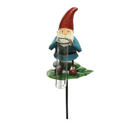 Toland Home and Garden - Garden Gnome Rain Gauge on Stake - Garden Gnome Rain Gauge on Stake. Track the weather and accent your garden. Weather resistant and easy to read designs add style to your patio.