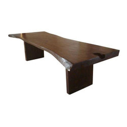 "10' Live Edge Dining Table - Note from the seller: ""We designed this 10' long live edge table made out of a sustainably harvested tree. Featuring the natural curves of the tree for an organic look and contemporary feel!"""