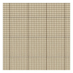 Tan Small Houndstooth Woven Fabric - Traditional houndstooth plaid in neutral tan, taupe & white.Recover your chair. Upholster a wall. Create a framed piece of art. Sew your own home accent. Whatever your decorating project, Loom's gorgeous, designer fabrics by the yard are up to the challenge!