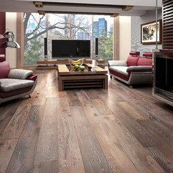 Kingsbridge Oak - This is a wide-plank, oak, engineered floor that's just rustic enough to look terrific in modern settings.