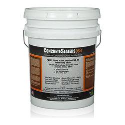 Concrete Sealers USA - PS105 Silane Water Repellent WB-40 Penetrating Sealer (5 gal.) - Low VOC, Water Based Sealer for Dense Concrete, Brick & Stone