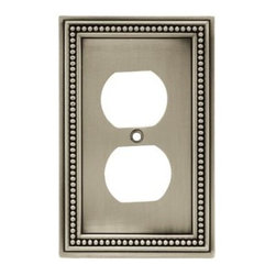 Liberty Hardware - Liberty Hardware 64776 Beaded WP Collection 3.19 Inch Switch Plate - Brushed Sat - The Beaded design adds elegance and sophistication to every room. The satin nickel finish brings distinguished style and grace to any room. Quality zinc die cast base material. Available in the 10 most popular wall plate configurations.. Width - 3.19 Inch,Height - 5 Inch,Projection - 0.3 Inch,Finish - Brushed Satin Pewter,Weight - 0.33 Lbs