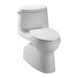 Toto - Toto MS614114CEFG#01 White Carlyle II One-Piece High-Efficiency Toilet, 1.28GPF - With it's simple styling and contemporary design, the Carlyle series gives any bath a sense of clean, uncomplicated elegance.