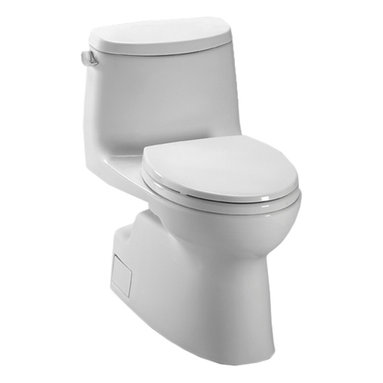 Toto - Toto MS614114CEFG#01 Carlyle II One-Piece High-Efficiency Toilet, 1.28 GPF - Toto MS614114CEF#51 ebony Carlyle II One-Piece High-Efficiency Toilet. Toto is the world's largest plumbing products manufacturer, they have been designing and innovating plumbing fixtures, accessories, showers, and for over 90 years. Each collection and product that Toto makes is unique in appearance and performance. This Toto MS614114CEF#51 ebony Carlyle II One-Piece High-Efficiency Toilet features a high gloss enamel Vitreous China constructed body designed minimize any particles from sticking to bowl, and resist chipping and scratching. This Toilet also includes an upgraded elongated toilet bowl, and a powerful Double cyclone flushing system. The Universal height and rough-in make the toilet comfortable for users and easy to install. This Toilet comes in Ebony.