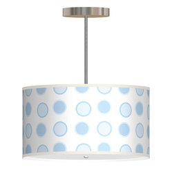 Bali Hanging Lamp in Circle Art Baby Blue