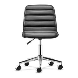 Zuo Modern - Zuo Modern Admire Modern Office Chair X-017502 - Comfortable ribs that conform to your back, the Admire chair is the perfect comfort chair for any office. The chair comes in three fun colors: black, white and red.
