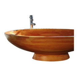 WS Bath Collections - Madera M2 Free Standing Wood Bathtub - Madera Free Standing High-End Wood Bathtub by WS Bath Collections