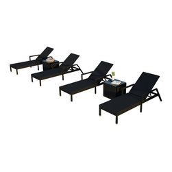 Forever Patio - Urbana 6 Piece Wicker Chaise Lounge Set - The Harmonia Living Urbana 6 Piece Rattan Patio Chaise Lounge Set  (SKU HL-URBNWS-6RCLS-NC) brings comfort and style to your outdoor space. Each chaise is constructed with durable, thick-gauged aluminum frames which are protected by a powder coating for superior corrosion resistance. The wicker is made of High-Density Polyethylene (HDPE) with its Coffee Bean color and UV resistance infused into the strands themselves. This creates a rich wicker color that holds up incredibly well with age. This chaise adheres to the highest quality standards for modern patio furniture in the market today, meaning it will last for years to come.