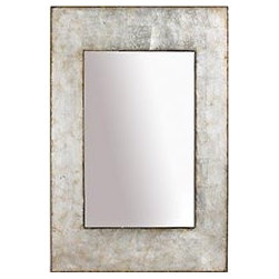 Champagne Mirror - I love the gold trim on this pearlescent mirror. Mixed metallics are majorly glamorous.