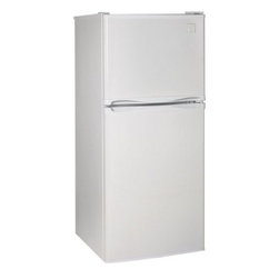 """Avanti - Frost Free Refrigerator and Freezer, 4.3 Cubic Foot - This 19"""", 3.6 cu. ft. Capacity Top-Freezer Refrigerator with Frost Free Operation is Packed with features. Reversible doors allow for easy access in any space. The Full range temperature control keeps your food at the right temperature. The adjustable wire shelves allow for versatility in storage options."""