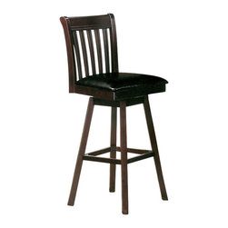 Canterbury Home Furnishing - Canterbury Dylan Swivel Barstool in Cappuccino (Set of 2) - Clean lines and undeniable style - the main theses of Dylan collection. Canterbury Dylan Swivel Barstool reflects a design suitable for any kitchen, to any requirement. Indulge yourself in the pleasure to use high-grade furniture, created from high quality materials, embodied in perfect shape.