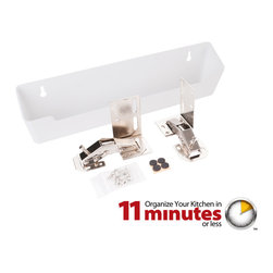 "Hardware Resources - 11-3/4"" Plastic Tipout 2 Shallow Tray Set - 11 3/4"" Shallow Sink Tipout Tray Pack.  White Plastic.  1 9/16"" Deep x 3"" Tall.  Sold per pair.  Two set of hinges  two trays  and 20pcs screws included."
